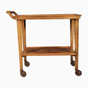 Art Deco Figured Walnut Drinks Trolley, 1930s