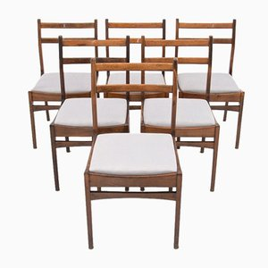 Danish Ladder Back Dining Chairs, 1960s, Set of 6