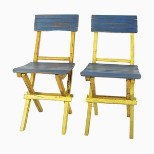 Mid-Century Folding Chairs, Set of 2