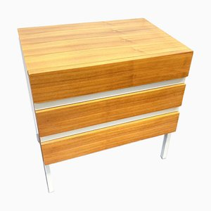 White Melamine and Teak Veneer Chest of Drawers from Interlübke, 1970s