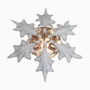Murano Glass Ceiling Lamp in the Style of Seguso, 1970s