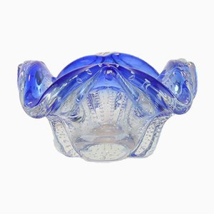 Blue Murano Glass Ashtray, 1950s