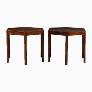 Tavolini esagonali di Hans C. Andersen, Danimarca, anni '60, set di 2