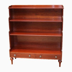 Mahogany Open Waterfall Bookcase, 1940s