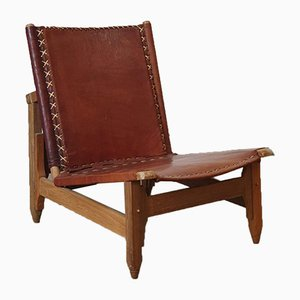 Cognac Leather Chair from Arte Sano, 1960s