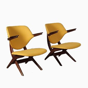 Pelican Chairs by Louis van Teeffelen for WéBé, 1960s, Set of 2