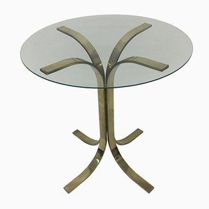 Mid-Century Brass Side Table, 1970s