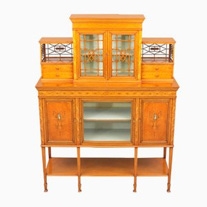 Fine Satinwood and Marquetry Display Side Cabinet from Gillows, 1902