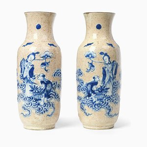 Chinese Ceramic Vases, Set of 2