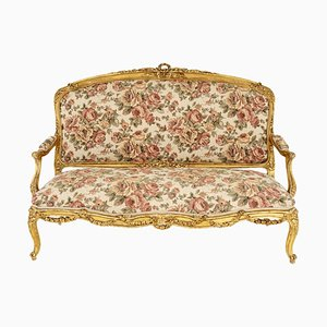 Louis XV Style Sofa in Giltwood, 1880s