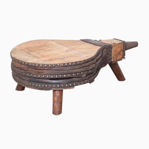 Industrial Wooden Bellows Coffee Table
