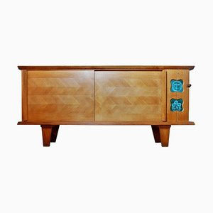 Oak Sideboard by Guillerme et Chambron for Votre Maison, 1970s