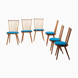 Dining Chairs by Albert Haberer for Hermann Fleiner, Germany, 1950s, Set of 6