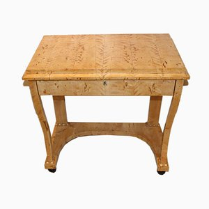 19th Century Swedish Birch Console Table with Drawer