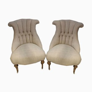 Late 19th Century Swedish Upholstered Chairs, Set of 2