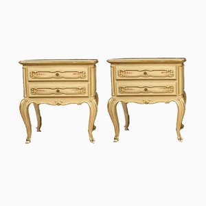 Venetian Lacquered, Gilded & Painted Nightstands, 1960s, Set of 2