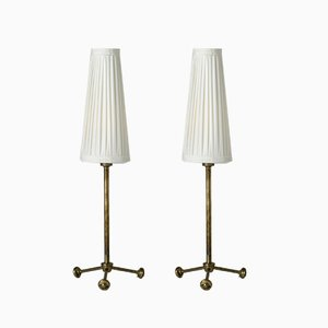 Brass Table Lamps by Hans Bergström for Ateljé Lyktan, 1950s, Set of 2
