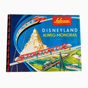 Mid-Century Disneyland Monorail Alweg Tin Train Toy Set from Schuco, 1960s
