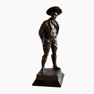 Antique Bronze Cowboy Sculpture by Carl Kauba, 1900s