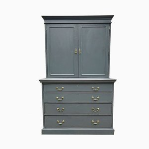 Antique Painted Cabinet over Chest Tallboy