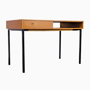 Teak and Black Steel Desk, 1960s