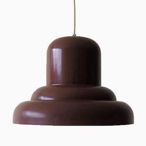 Mid-Century Brown Metal Pendant Lamp, 1960s