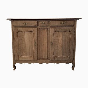 19th Century French Bleached Oak Farmhouse Buffet
