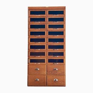 Haberdashery Oak Cabinet, 1930s