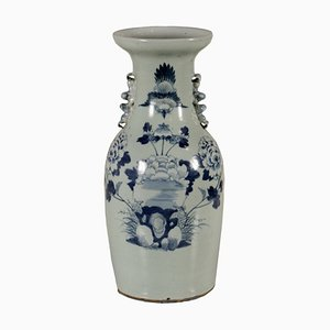 Vase with Blue Decorations, China, 1940s