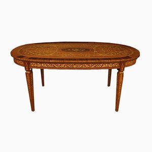 Louis XVI Style Italian Inlaid Oval Dining Table, 1960s