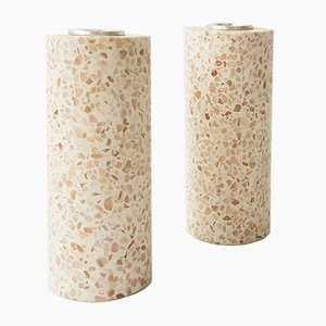 Terrazzo Candleholders 2.0 with Silver Candle Cups by Gilli Kuchik & Ran Amitai
