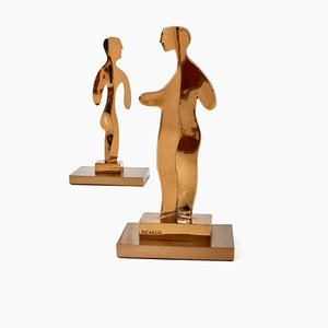 Woman and Man Sculptures after Pablo Picasso, 1960s, Set of 2