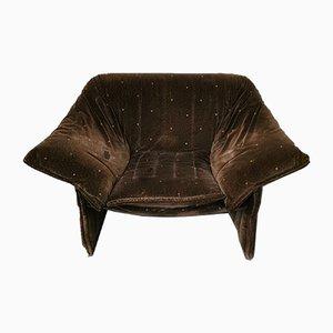 MId-Century Samt Sessel von Mario Bellini für B & B Italia / C & B Italia, 1970er