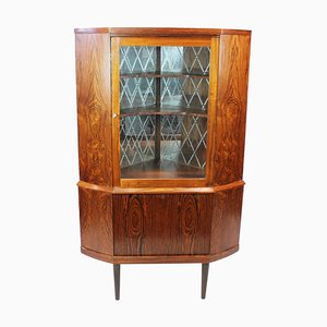Danish Corner Cabinet with Bar Cabinet in Rosewood, 1960s