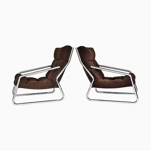 Mid-Century Lounge Chairs, 1970s, Set of 2