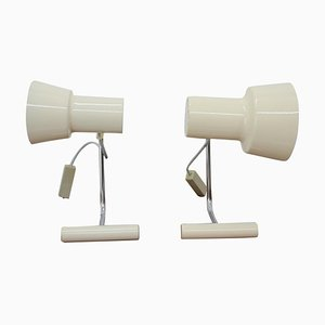 Beige Table Lamps by Josef Hůrka for Napako, 1970s, Set of 2