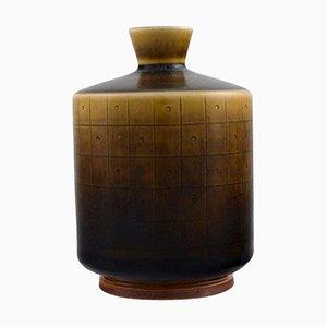 Modernist Glazed Ceramic Vase by Berndt Friberg for Gustavsberg, 1962