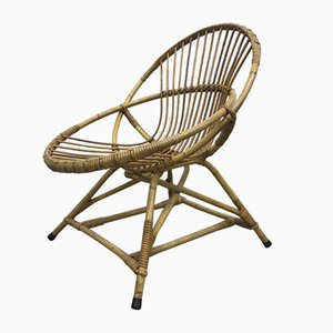 Mid-Century Rattan Chair, 1960s