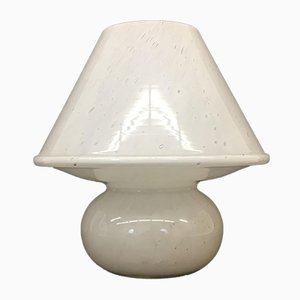 Vintage Glass Mushroom Table Lamp from Limburg