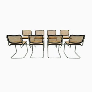 Cesca Chairs by Marcel Breuer for Knoll, 1960s, Set of 8
