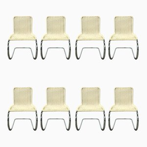 B42/1 Dining Chairs in Off-White Cane by Ludwig Mies van der Rohe for Tecta, 1960s, Set of 8