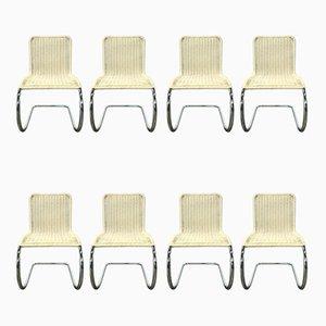 B42 / 1 Esszimmerstühle in gebrochenem Weiß von Ludwig Mies van der Rohe für Tecta, 1960er, 8er Set