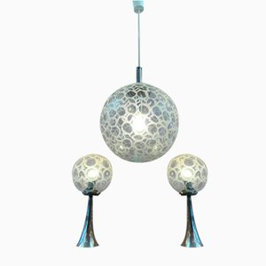 Globe Hanging Light & Table Lamps from Doria Leuchten, 1970s, Set of 3