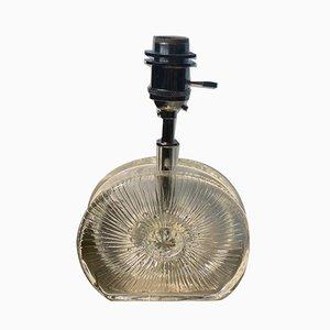 Kleine Vintage Glas Tischlampe, 1960er
