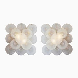 Wall Lamps with Murano Glass Discs by Carlo Nason, 1960s, Set of 2