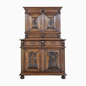 19th Century Italian Carved Walnut Cabinet