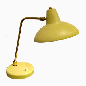 Mid-Century Yellow Table Lamp