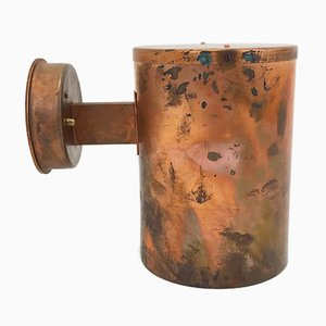 Patinated Copper Outdoor Wall Lamp from Falkenbergs Belysning, 1960s