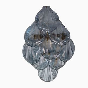 VIntage Lilac Glass Shell Sconces, 1970s, Set of 2