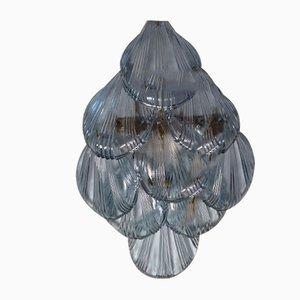Vintage Muschel Wandleuchten aus Glas, 1970er, 2er Set